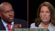 Jones, Bachmann battle on border issue