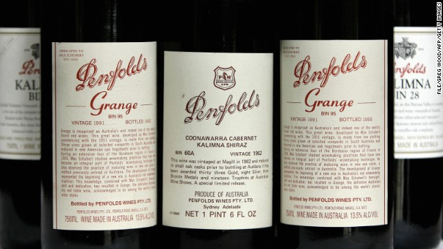 The real McCoy: Bottles of Penfolds' famous wines at a re-corking clinic in Sydney, Australia in 2006.