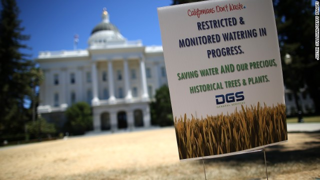 The grounds at the state Capitol are already under a reduced watering program, and groundskeepers have let sections of the lawn die off in an effort to use less water.