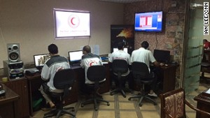 The ambulance control center in central Gaza.