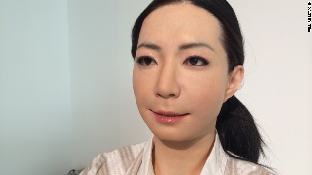 Androids are modeled after real people. Molds are made from a person's face, hands, and arms. Silicone skin covers intricate mechanical 'muscles' designed to create lifelike facial expressions and movements.