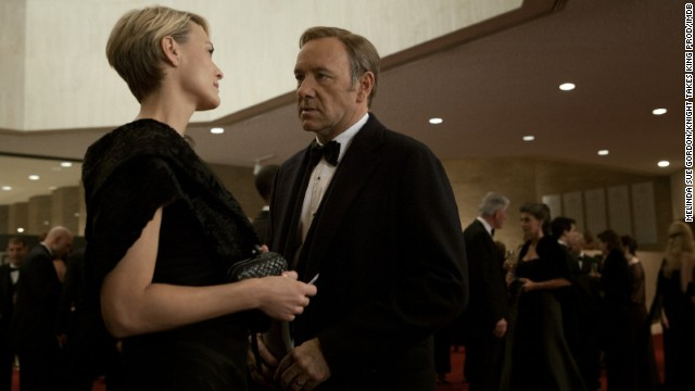 "Kevin Spacey and Robin Wright play a power-hungry Washington couple in ""House of Cards."""