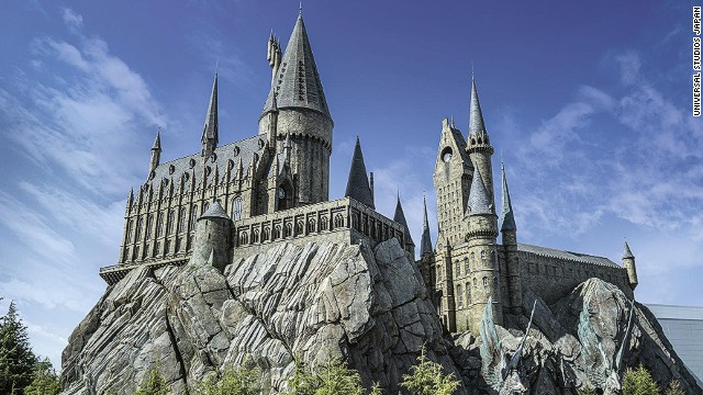 "Inside of the replica of Hogwarts School of Witchcraft and Wizardry, visitors will find the signature ""Harry Potter and the Forbidden Journey"" ride, a flight simulator filled with special effects."