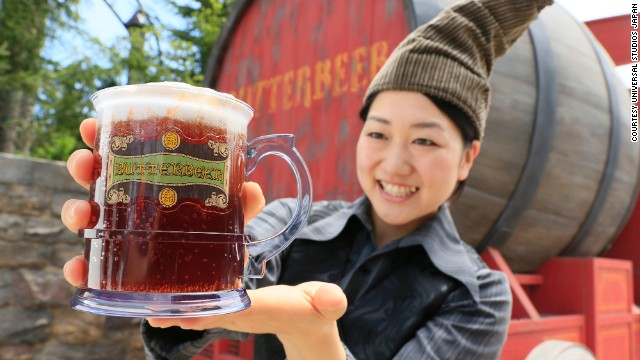 "Sorry folks, there's no alcohol in ""Butterbeer."" A drink consumed by Hogwarts students, the theme park version tastes more like shortbread and butterscotch than yeast and hops."
