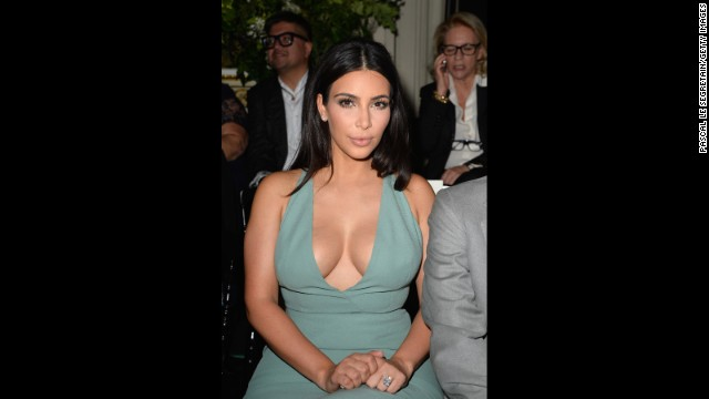 Fan Claire Leeson is trying to look like Kim Kardashian seen here attending Paris Fashion Week in July 2014 in Paris, France.