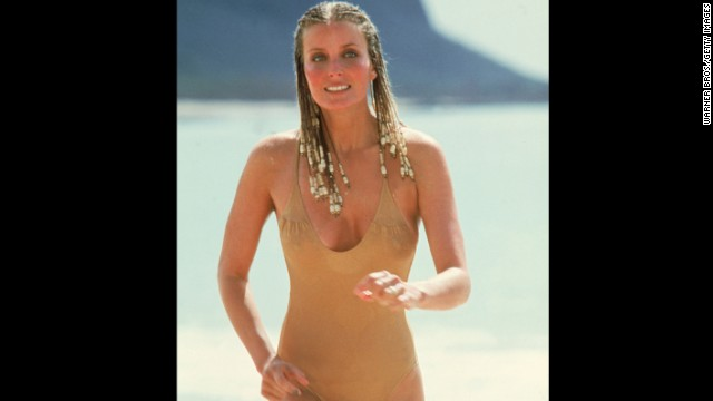 "In the 1979 movie ""10,"" Bo Derek's beige swimsuit made history and turned the young star into a mainstream sex symbol."