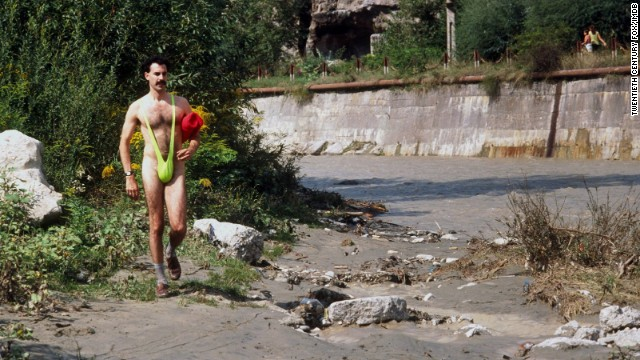 "Sacha Baron Cohen and his daring, neon green suit shocked viewers when he wore it in his 2006 mockumentary ""Borat."""