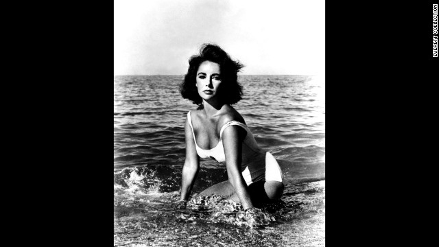 "While playing a mental patient in 1959's ""Suddenly, Last Summer"" Elizabeth Taylor was able to maintain her status as a sex symbol with this simple white suit."