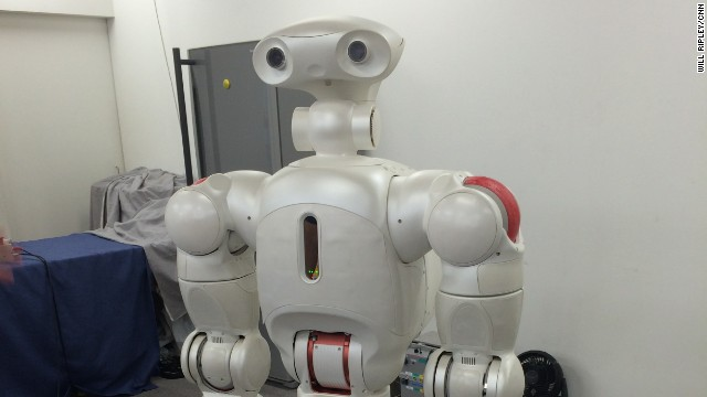 Twendy-one is a prototype of an all-purpose robot that could someday be used for household, office, or factory work. It has been programmed to perform basic tasks and can respond to verbal commands.