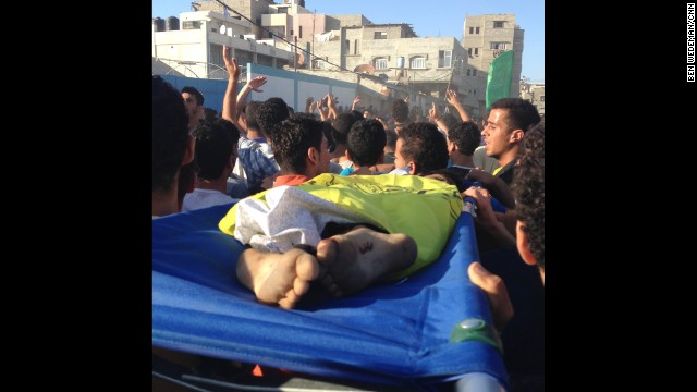 "GAZA CITY: ""Four boys, aged 9 to 11, were killed on Gaza's beach this afternoon in an Israeli strike. Muhammed, Ismail, Zakaria and Ahed, all cousins from the extended Bakr family."" - CNN's Ben Wedeman, July 16. Follow Ben (<a href='http://instagram.com/bcwedeman' target='_blank'>@bcwedeman</a>) and other CNNers along on Instagram at <a href='http://instagram.com/cnn' target='_blank'>instagram.com/cnn</a>."