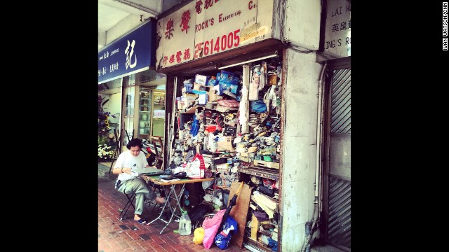 "HONG KONG: ""Rock's Electrical Co. makes maximum use of space in store and on the sidewalk."" - CNN's Ivan Watson, July 17. Follow Ivan (<a href='http://instagram.com/ivancnn' target='_blank'>@ivancnn</a>) and other CNNers along on Instagram at <a href='http://instagram.com/cnn' target='_blank'>instagram.com/cnn</a>."