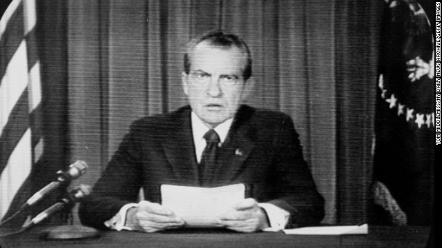The summer of 1974 stands out in American history with the culmination of the Watergate scandal, leading President Richard Nixon to announce his decision to resign August 9. Click through the gallery for more world events and pop culture landmarks in 1974 that helped define the decade.