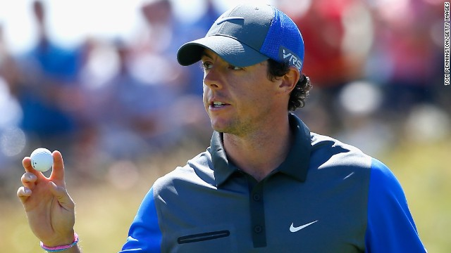 Rory McIlroy had reason to smile after an opening six-under 66 gave him the lead at the British Open at Hoylake.