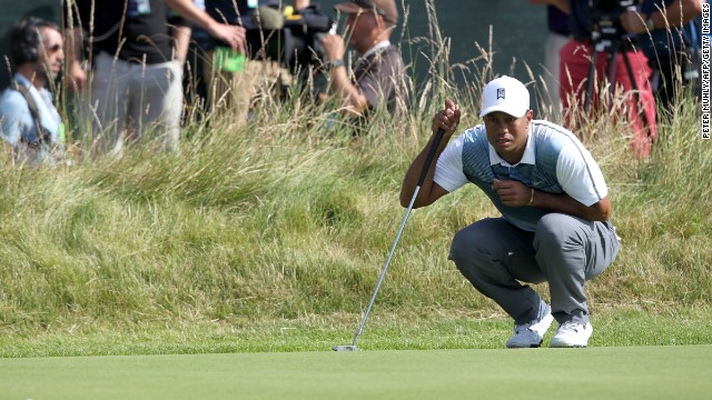 After his first round <a href='http://us.cnn.com/2014/07/17/sport/golf/tiger-woods-british-open-golf/index.html?hpt=hp_t2'>Tiger Woods complained fans hadn't put their mobile phones on silent.</a>
