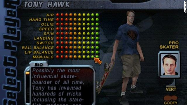 """Tony Hawk's Pro Skater"" revolutionized sports games, and since it launched in 1999, no shortage of famous folks have appeared to take a turn in the half-pipe. Tattoo artist Kat Von D, Green Day frontman Billy Joe Armstrong and rapper Lil Jon are just a few who have appeared -- in addition, of course, to Hawk himself."