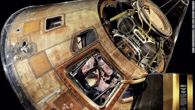The Apollo 11 command module Columbia carried astronauts Neal Armstrong, Buzz Aldrin and Michael Collins to the moon and back in July 1969.