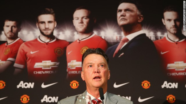 Louis van Gaal was officially unveiled as Manchester United manager on Thursday.