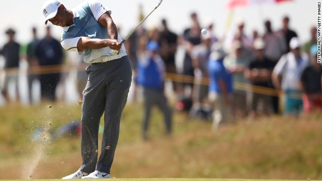 The thousands following him cheered as he went on a run of five birdies in six holes.