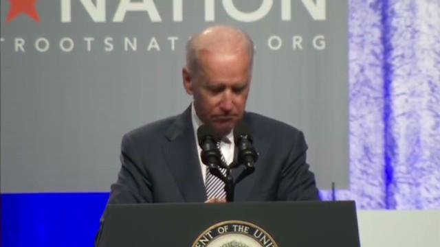 President Obama At Netroots >> Biden applauds protesters at his own speech – CNN Political Ticker - CNN.com Blogs