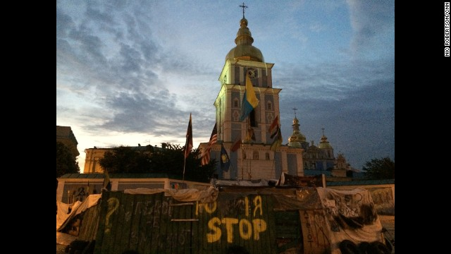 "KIEV, UKRAINE: ""A new day dawns over Ukraine - implications and effect of the separatist rebellion impacting way beyond this country's borders - President Poroshenko pushes to internationalize the downing of MH17."" - CNN's Nic Robertson, July 18. Follow Nic (<a href='http://instagram.com/nicrobertsoncnn' target='_blank'>@nicrobertsoncnn</a>) and other CNNers along on Instagram at <a href='http://instagram.com/cnn' target='_blank'>instagram.com/cnn</a>."