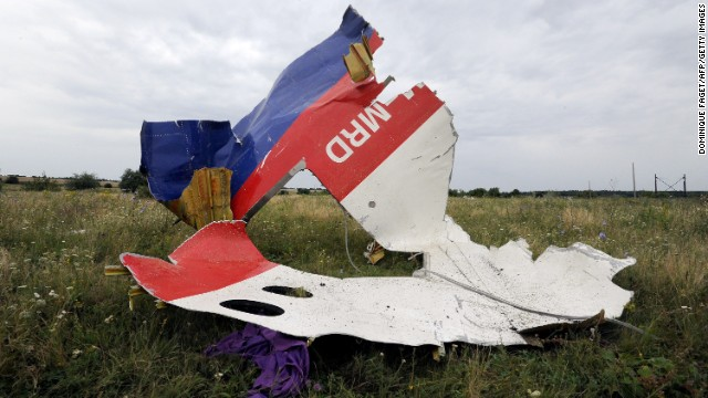 Wreckage from Flight 17 lies in a field in Shaktarsk, Ukraine, on July 18.