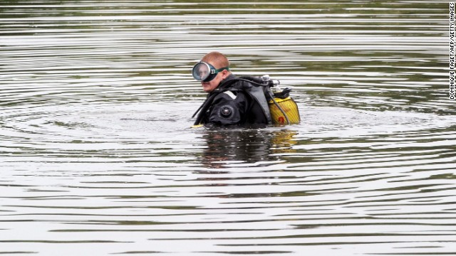 A diver searches for the jet's flight data recorders on July 18.