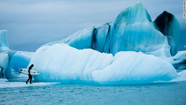 Shot over a period of two weeks, the stunning video shows the extreme Arctic conditions that the photographer regularly shoots in.