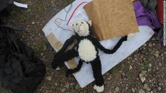 A toy monkey.