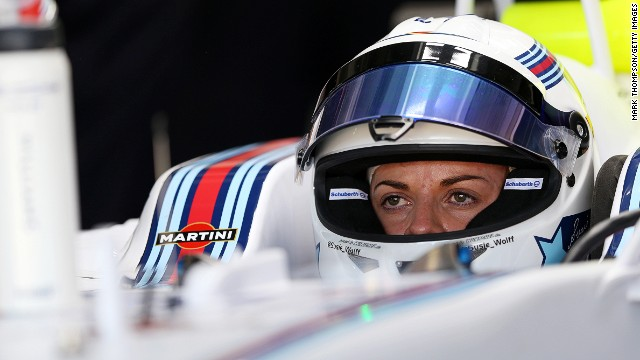Susie Wolff completed 20 laps in Friday's first practice for the German Grand Prix at Hockenheim.
