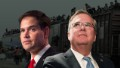 Bush, Rubio lay low on border crisis