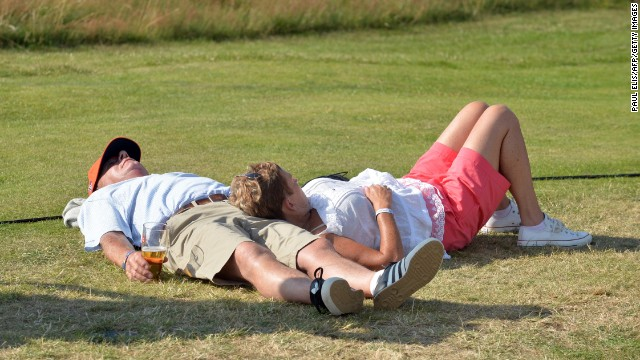 You are even allowed to lie down and have a nap at Hoylake.
