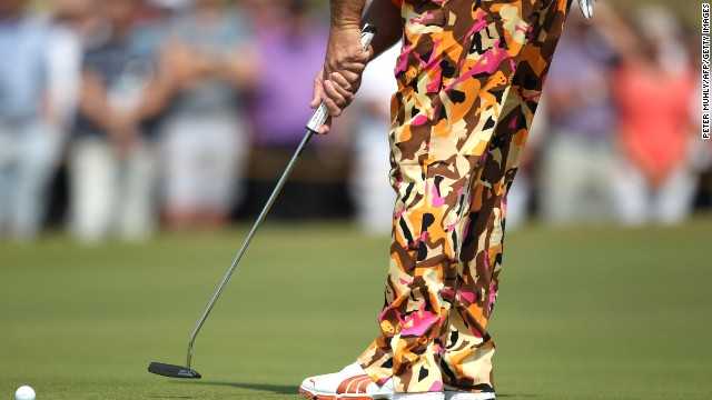Golfer John Daly was more than happy to join in with Hoylake's more relaxed vibe -- or rather his trousers were.