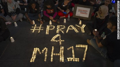 Grief over MH17, support for those left