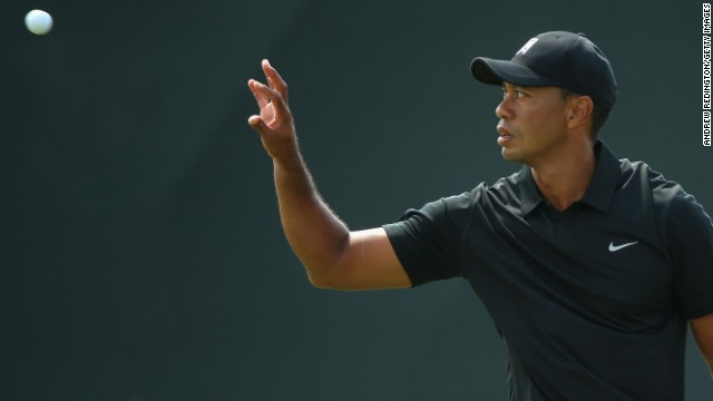 It was a tough day for Tiger Woods who fell away after a promising opening round and only just made the cut.