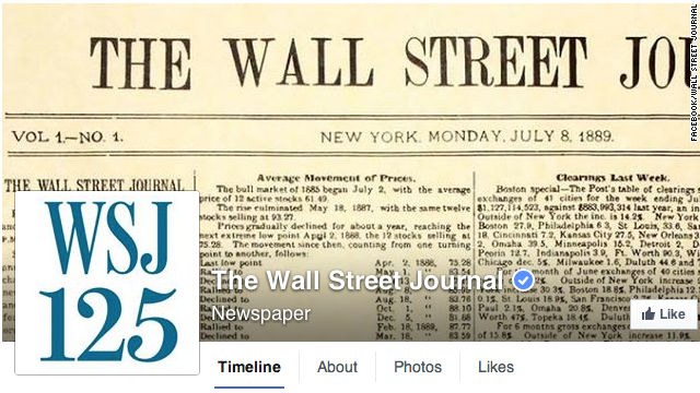 'Hackean' página en Facebook del 'Wall Street Journal'