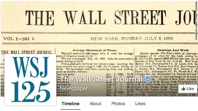 'Hackean' página en Facebook del 'Wall Street Journal'