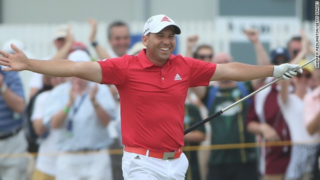 Sergio Garcia made a strong charge on the front nine and holed his second shot at the second hole for an eagle