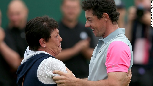 Rory Mcilroy Shares Tears With His Mum As Jinx Ends Cnn Com