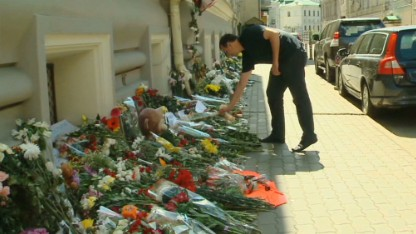 MH17 tributes in Moscow: \'Forgive us\'