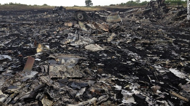 "HRABOVE, UKRAINE: ""When the sun came up we saw this...and much worse."" - CNN's Phil Black, July 19. Photo shows the crash site of Malaysian Airlines Flight MH17, which was shot down over Ukraine. Folllow Phil (<a href='http://instagram.com/philblackcnn' target='_blank'>@philblackcnn</a>) and other CNNers along on Instagram at <a href='http://instagram.com/cnn' target='_blank'>instagram.com/cnn</a>."