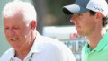 PINEHURST, NC - JUNE 10: Rory McIlroy (R) of Northern Ireland talks with his dad Gerry McIlroy (L) during a practice round prior to the start of the 114th U.S. Open at Pinehurst Resort & Country Club, Course No. 2 on June 10, 2014 in Pinehurst, North Carolina. (Photo by Andrew Redington/Getty Images)
