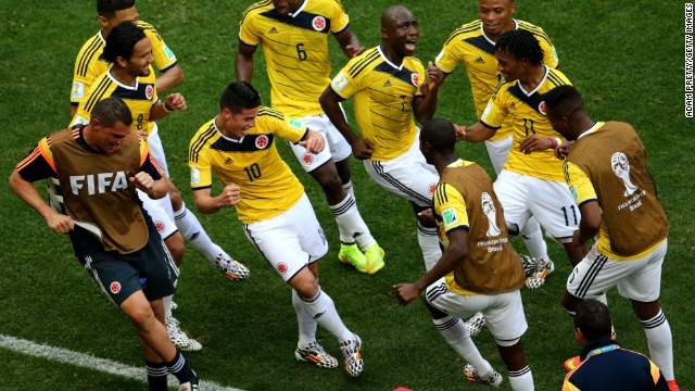 Rodriguez was one of the stars of the 2014 World Cup, leading Colombia to the quarterfinals. He didn't just score goals, he also had some nifty dancefloor moves.