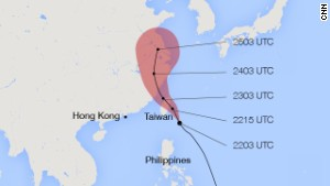 Typhoon Matmo projected to hit Taiwan