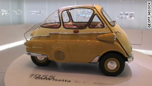 1955 BMW Isetta bubble car, BMW Museum, Germany.