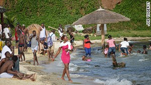 Beach resorts are a sign of Uganda\'s return to normality.