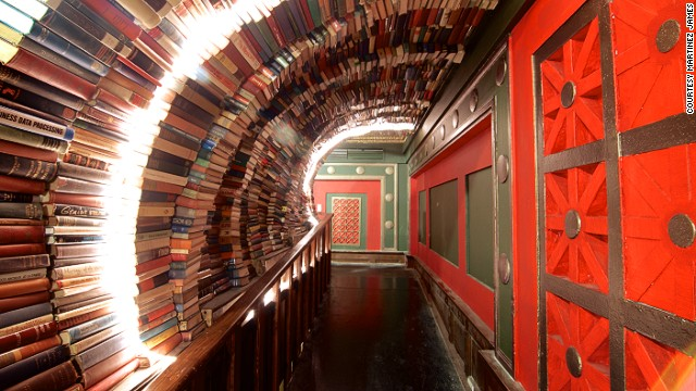 "The stylish Last Bookstore in Los Angeles served as the backdrop for a fashion shoot in a recent issue of ""Esquire."""