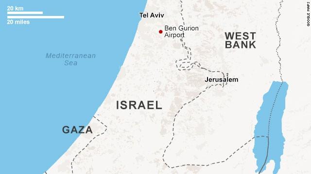 Map: Ben Gurion Airport