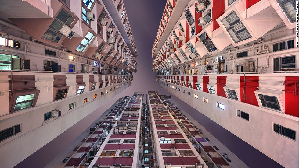 City dwellers are perhaps more acquainted with the architecture of their phones than the skyscrapers that carve out their commutes. However, Hong Kong-based photographer <a href='http://www.rjl-art.com/' target='_blank'>Romain Jacquet-Lagrѐze</a> reckons eyes should be diverted upward. Documenting the colossal sky-rises that crowd the city, Jacquet-Lagrѐze captures these giants from the ground up in his book <a href='http://www.rjl-art.com/vertical-horizon.php' target='_blank'>Vertical Horizons</a>, unveiling extraordinary sights often missed when heads are kept down. <!-- --> </br><!-- --> </br>By Monique Todd, for CNN