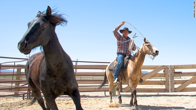 Experienced riders can saddle up and head out with the Mustang Monument resort's resident cowboys.