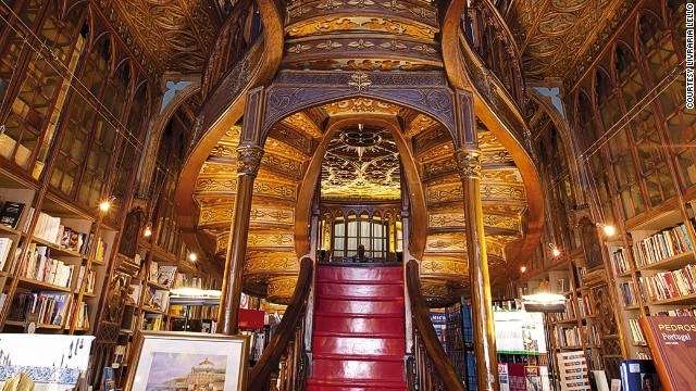 Built in 1906 and originally designed as a bookstore, the Livraria Lello in Porto, Portugal, features neo-Gothic architectural flair.